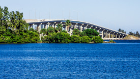 The Melbourne Florida Causeway Over the Indian River